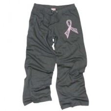 Pink Ribbon Gray Lounge Pant  - 00165