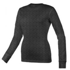 Women's Scratch Burn Out Long Sleeve Underscrub T-Shirt - Black  - 01051