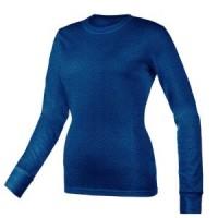 Women's Curve Burn Out T-Shirt - Blue  - 01075