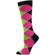 Diamond Block Fashion CompressionSock-Reg - 01399