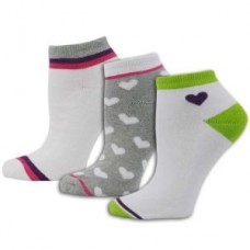 Ladies Fashion 3pk Sock - Light Colors - 01413