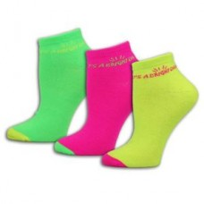 """It's A Bright Day"" Neon  3pk Fine Gauge Socks - 01458"