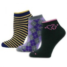 3pk Full Cushion Novelty Socks - Multi - 01415