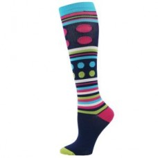 Fashion Stripe & Dot Design Compression Sock - Regular - 01431