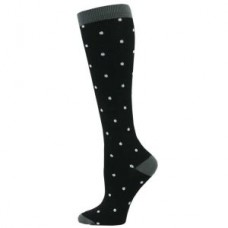 Fashion Mini Polka Dot Compression Sock - XL - 01432