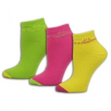 """It's A Bright Day"" 3pk  Muted Colors Fine Gauge Socks - 01414"