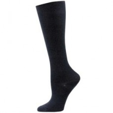 Solid Black Compression Sock- XL - 01656
