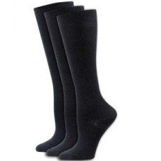 3pk Solid Black Compression Socks - XL - 01666