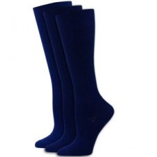 3pk Solid  Navy Compression Socks - Regular - 01662
