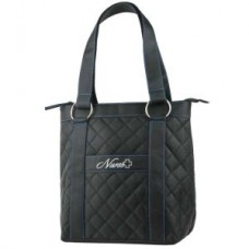 Deluxe Plush Quilted Nurse Tote - Black - 01701
