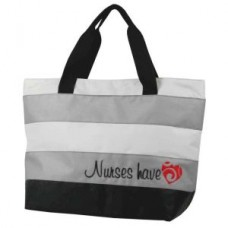 Nurses Have Heart Charcoal & Gray Tote - 01704