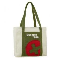 """""""I've Got Nursing in the Bag"""" Canvas Tote - Olive - 01705"""