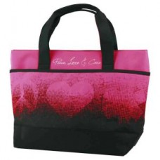 Peace, Love & Care Tote - Berry - 01709