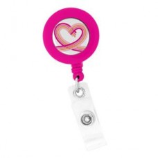 "Pink ""Heart"" ID Holder - 01806"