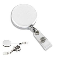 Heavy Duty Metal ID Holder - White - 01817