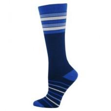 Stripe Fashion Compression Sock - Navy - 94515