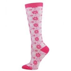 Tonal Flower Fashion Compression Sock - 94516