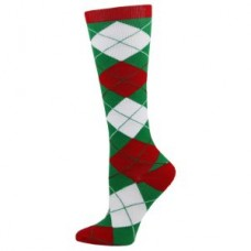 Holiday Argyle Fashion Compression Sock - 94523