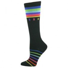 Multi-Ribbon Cancer Awareness Premium Fashion Compression Sock - 94524