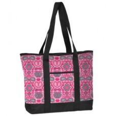 Fashion Print Utility Tote - Pink Paisle - 94564