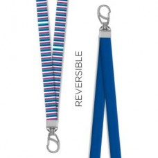 Vertical Stripe Reversible Lanyard - 94603