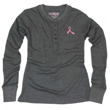 ProCure™ Pink Ribbon Thermal Henley Shirt - 00138