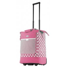 Polka Dot Rolling Tote - Pink - 01848