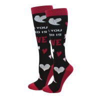 All You Need Is Love  XL Fashion Compression Sock - 94019