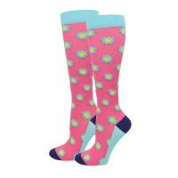 Pink Floral  XL Fashion Compression Sock - 94024