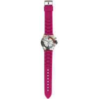 Braided Silicone Professional Watch-Pink - 94510