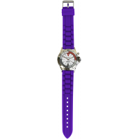 Braided Silicone Professional Watch-Purple - 94511