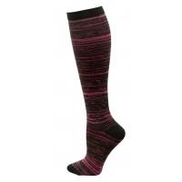 Marled Compression Sock -  Dark Pink - 94661