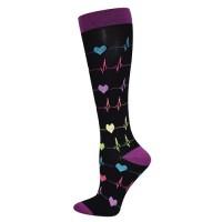 Premium Heart EKG  Fashion  XL Compression Sock- 94780