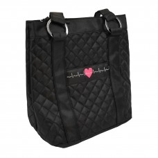 EKG Heart Deluxe Plush Quilted Tote - 94724