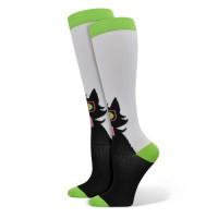 Black Cat With Glasses Fashion Compression Sock - 92040