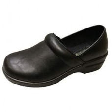 Savvy Brandy Nursing Shoe - Black Smooth