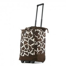 "Fashion Rolling Carry-All ""Giraffe"" Tote - 01832"