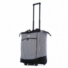 """Fashion Rolling Carry-All """"Houndstooth"""" Tote - 01836"""