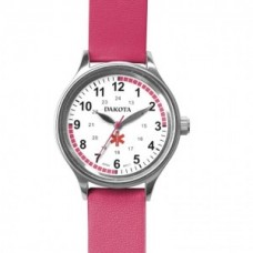Leather Nurse Watch - Pink - 01254