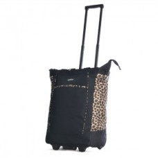 """Leopard"" Print Rolling Tote - 01846"