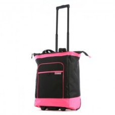 Multi-Functional Rolling Tote with Pink Neon Trim - 01842