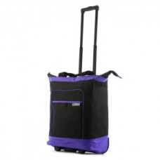 Multi-Functional Rolling Tote with Purple  Neon Trim - 01844