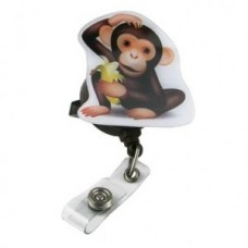 """Pop Outs"" Badge Holder - Monkey - 01305"