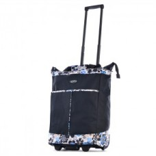 Rolling Tote Solid Color with Matching Print - 01839