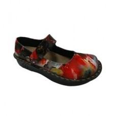 Savvy  Jane  Nursing Shoe - Red/Black Paint