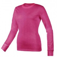 Women's Curve Burn Out T-Shirt - Wine  - 01080