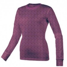 Women's Scratch Burn Out Long Sleeve Underscrub T-Shirt - Purple  - 01061