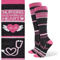 Nursing is a Work of Heart Fashion Compression Sock - 92006