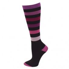 Ultra Soft Sporty Stripe Compression Sock - Regular - 94683