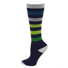 Ultra Soft Sporty Stripe Compression Sock - Regular - 94684